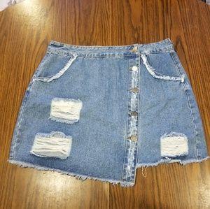 Forever 21+ Women's Denim Skirt. Size 0X